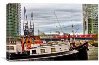 East India Docks, docklands London, Canvas Print