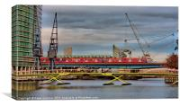 East India Docks, docklands London, Canvas Print