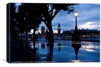 Westminster Puddle, Canvas Print