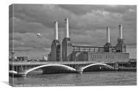 Pink Floyd's Pig, Battersea, Canvas Print