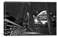 Hungerford Bridge London,, Canvas Print