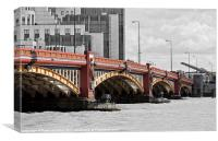 Vauxhall Bridge London, SC Red, Canvas Print