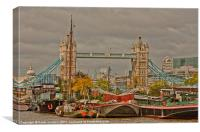 Tower of London Barges, Canvas Print