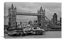Tower Bridge and Paddleboats, Canvas Print