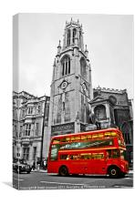 Red London Bus, Canvas Print