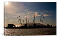 Millennium Dome Sunrise, O2, Canvas Print