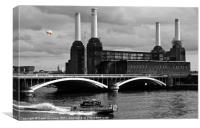 Pink Floyds Pig, Battersea, Canvas Print