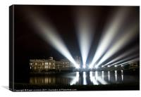 Leeds Castle and Laser Lights, Canvas Print