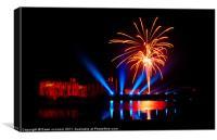 Leeds Castle Fireworks, Canvas Print