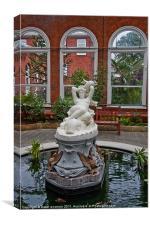 Galatea, Marble Statue in Avery Hill Winter Garden, Canvas Print