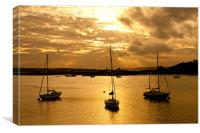River Medway Sunset, Canvas Print
