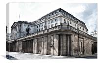 The Bank of England, Canvas Print