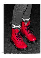 Red Boots, Canvas Print