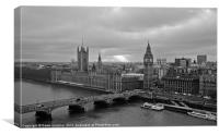 Westminster, Houses of Parliament, Canvas Print