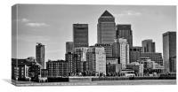 Docklands Canary Wharf, Canvas Print