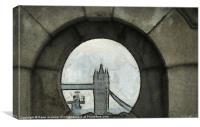 Tower Bridge Painting, Canvas Print