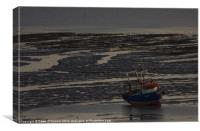 Lone Boat on Shore at Southend, Canvas Print