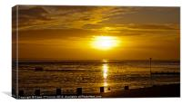 Southend on Sea,  Sunset, Canvas Print
