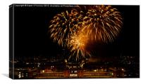 Royal Greenwich Fireworks, Canvas Print