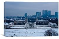 Royal Greenwich Snow, Canvas Print