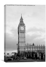 Big Ben, black and white, Canvas Print