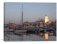 Sunset on Limehouse Basin, Canvas Print