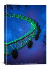 London Eye, St. Patrick's Day, Canvas Print