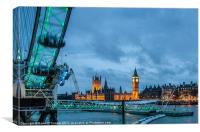 Westminster on St. Patrick's Day, Canvas Print