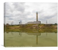 Grain Power Station, Canvas Print