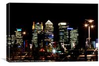 London Docklands Skyline, Canvas Print