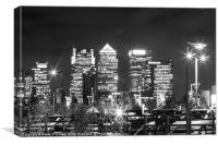 Canary Wharf Nightshot, Canvas Print