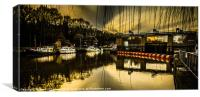Alyesford Lock, Canvas Print
