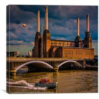 Pink Floyd Pig at Battersea, Canvas Print