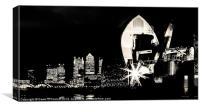 Thames Barrier and Docklands, Canvas Print