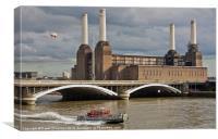 Pink Floyd Pig at Battersea, Canvas Print