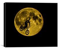 BMX Moon Rider, Canvas Print