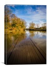 Flooded River Medway, Canvas Print