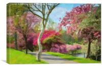 Victoria Park Springtime, Canvas Print