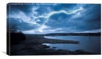 River Medway Lightning, Canvas Print