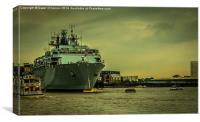 HMS Bulwark at Greenwich, Canvas Print