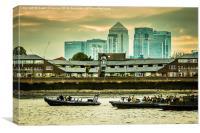 The Royal Navy at Greenwich, Canvas Print