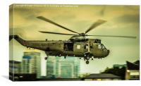Sea King Helicoptor, Canvas Print