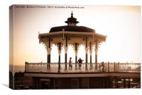 Brighton Bandstand at Sunset, Canvas Print