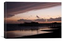 Hastings Pier - Purple Sunset, Canvas Print