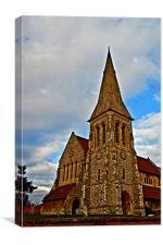 Eltham Parish Church (Saint John the Baptist) Elth, Canvas Print
