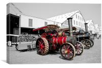 Steam Engines, Chatham Dockyard, Canvas Print