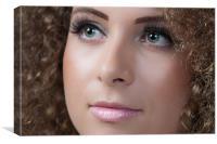 Green eyes, Pink Lips, Canvas Print