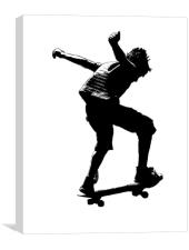 The Skateboarder, Canvas Print