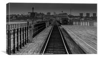 Southend on Sea, Pier Tracks, Canvas Print