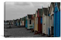 Southend on Sea Beach Huts, Canvas Print